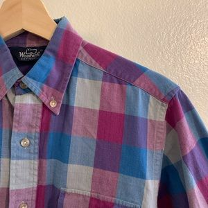 Small plaid woolrich button up